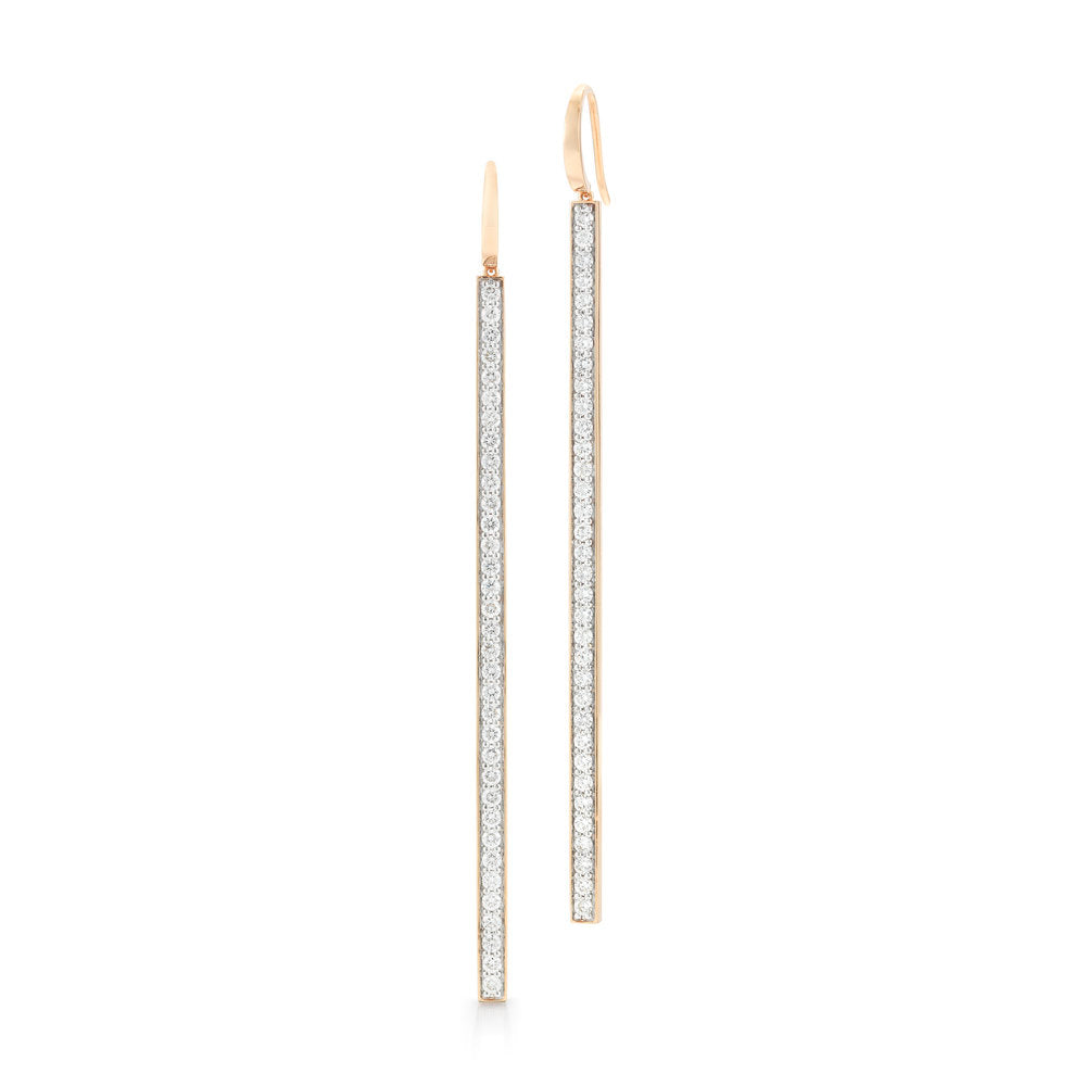 GRANT 18K DIAMOND BAR EARRING
