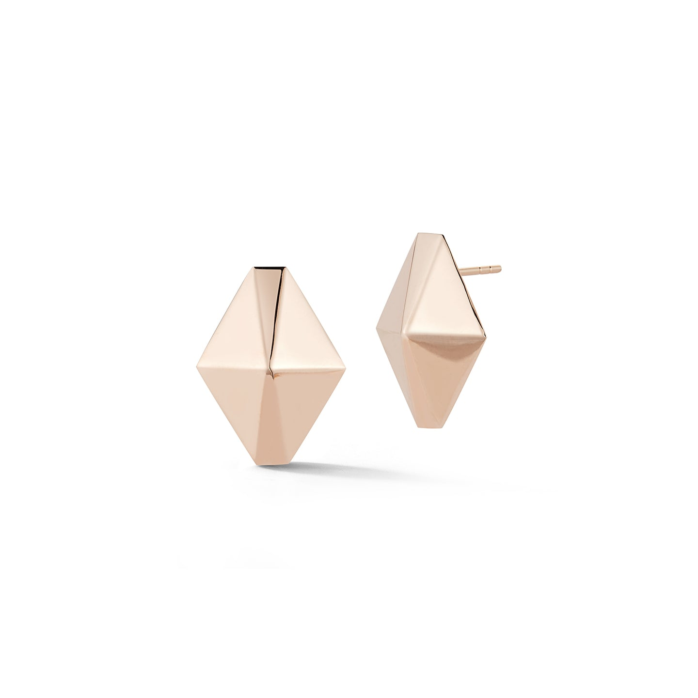 SYDNEY 18K ROSE GOLD LARGE ORIGAMI STUD EARRINGS