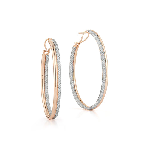 THOBY 18K AND DIAMOND TUBULAR HOOP