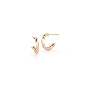 THOBY 18K ROSE GOLD 2.5MM HUGGIE TUBULAR EARRING