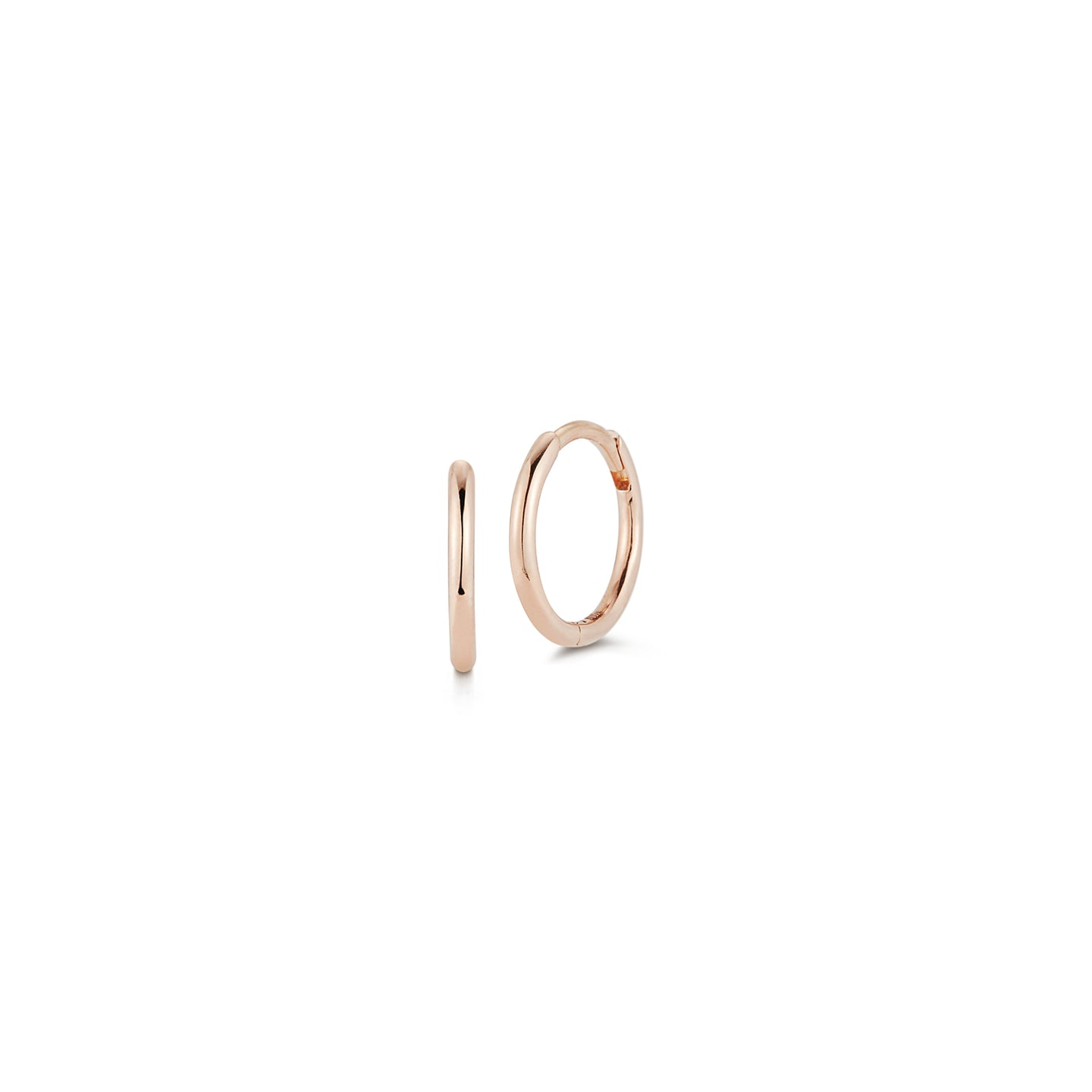 DORA 18K ROSE GOLD HUGGIES