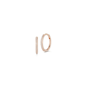 DORA 18K ROSE GOLD AND DIAMOND HUGGIES