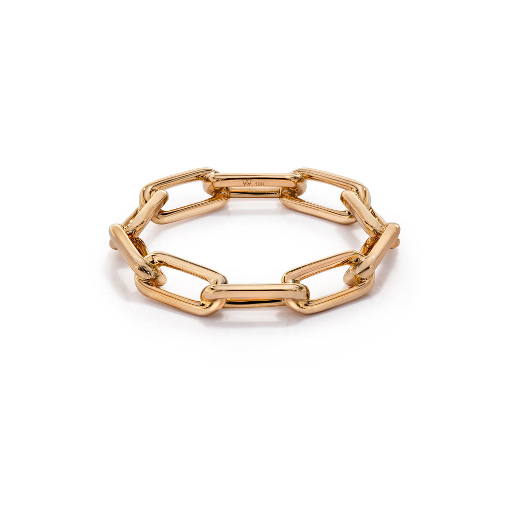 SAXON 18K ROSE GOLD CHAIN LINK RING