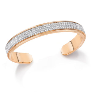 CARRINGTON 18K TWO TONE 4 ROW DIAMOND CUFF