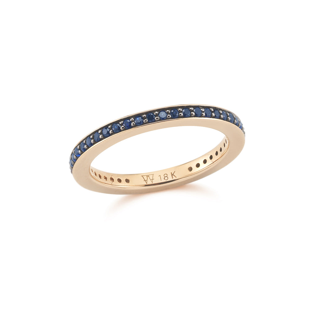 GRANT 2MM SAPPHIRE CUBED BAND RING