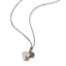 CHANTECAILLE LARGE 18K WHITE DIAMOND PEBBLE