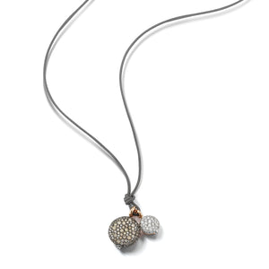 CHANTECAILLE LARGE 18K CHAMPAGNE DIAMOND PEBBLE