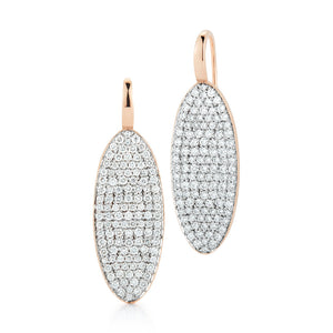 LYTTON 18K DIAMOND OVAL DROP EARRING