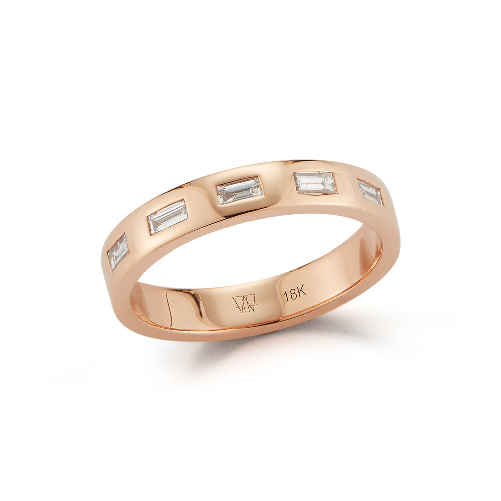 OTTOLINE 18K AND DIAMOND BAGUETTE RING