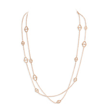 KEYNES 18K ROSE SIGNATURE HEXAGON STATION NECKLACE