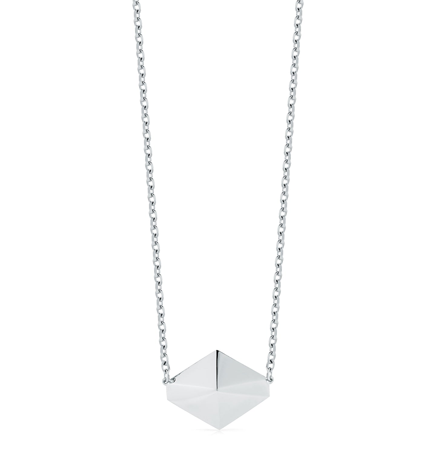 SYDNEY STERLING SILVER LARGE ORIGAMI PENDANT