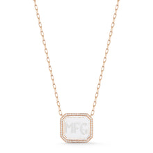 BELL 18K DIAMOND & ROCK CRYSTAL RECTANGULAR PENDANT