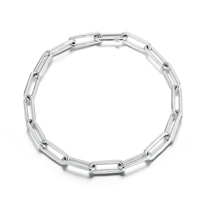 Saxon Sterling Silver Elongated Chain Link Choker