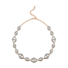 KEYNES 18K TWO TONE SIGNATURE DIAMOND HEXAGON CHOKER