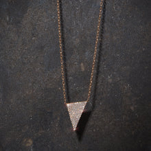 SYDNEY 18K ROSE GOLD AND DIAMOND DOWNWARD TRIANGLE PENDANT
