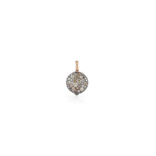 CHANTECAILLE 18K SMALL 9mm CHAMPAGNE DIAMOND PEBBLE