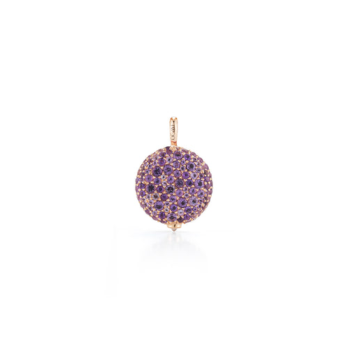 CHANTECAILLE 18K LARGE 14mm AMETHYST PEBBLE