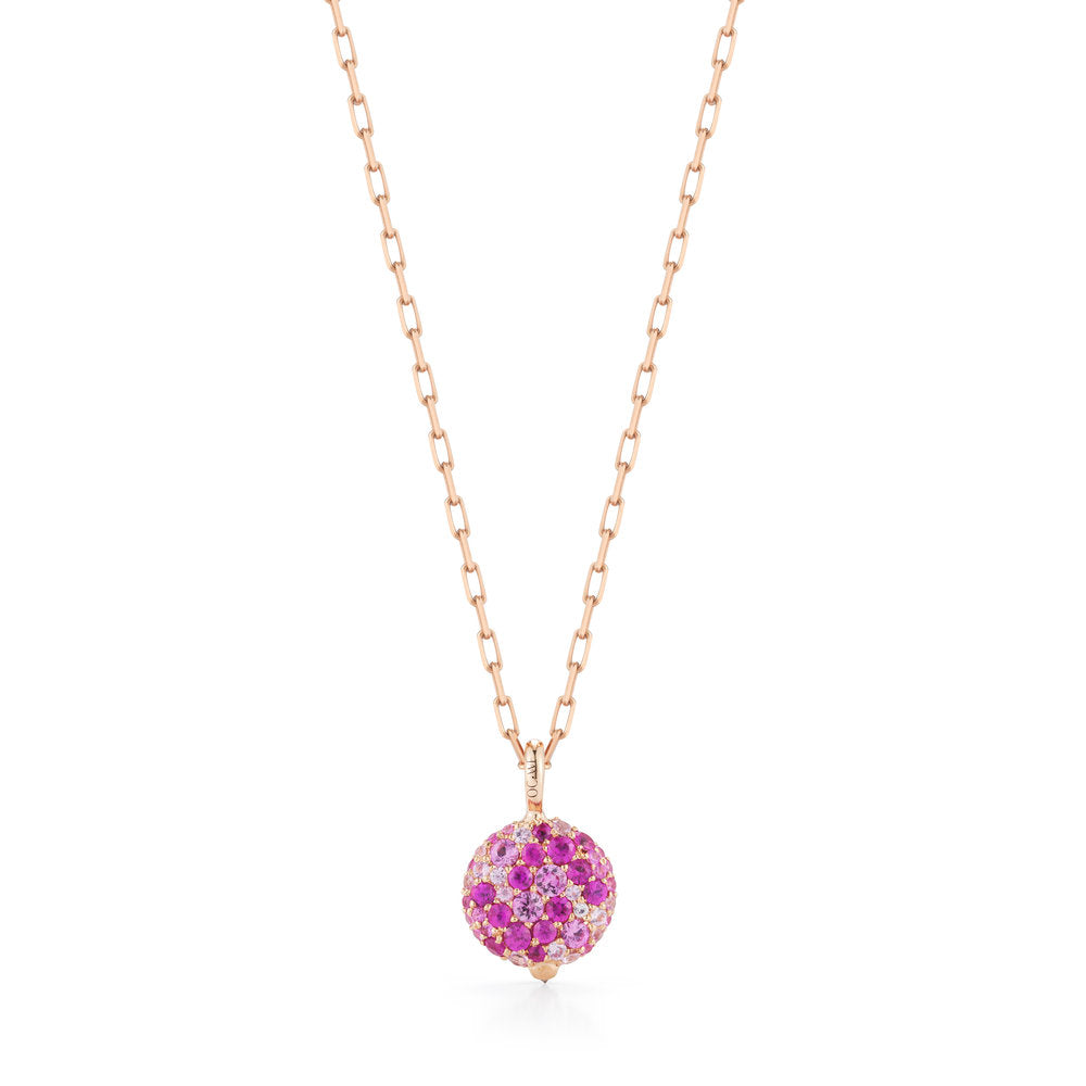 CHANTECAILLE 18K SMALL PINK SAPPHIRE PEBBLE