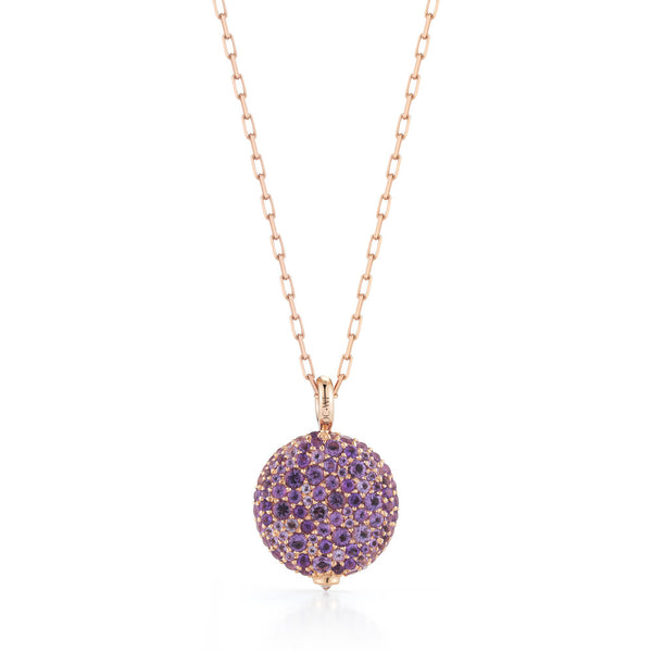 CHANTECAILLE 18K LARGE AMETHYST PEBBLE