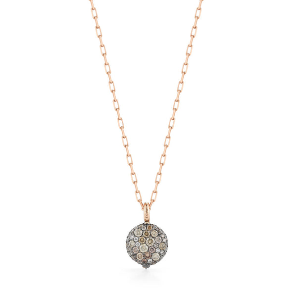 CHANTECAILLE 18K SMALL CHAMPAGNE DIAMOND PEBBLE