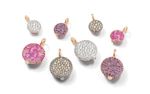 CHANTECAILLE 18K LARGE PINK SAPPHIRE PEBBLE