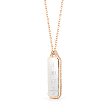 CARRINGTON TWO TONE DIAMOND EDGE ID TABLET NECKLACE