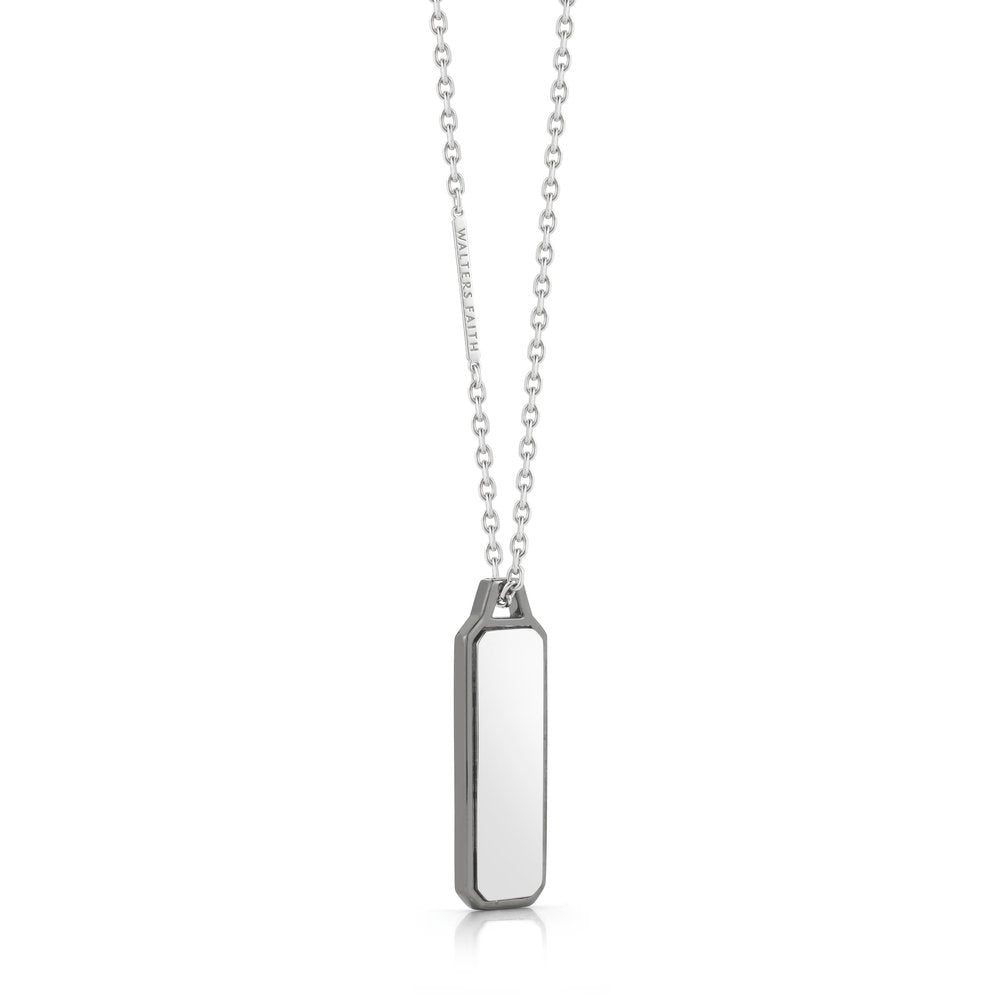 STERLING SILVER CARRINGTON ID TABLET NECKLACE