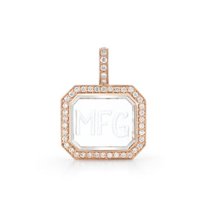 BELL 18K, DIAMOND AND ROCK CRYSTAL CHARM
