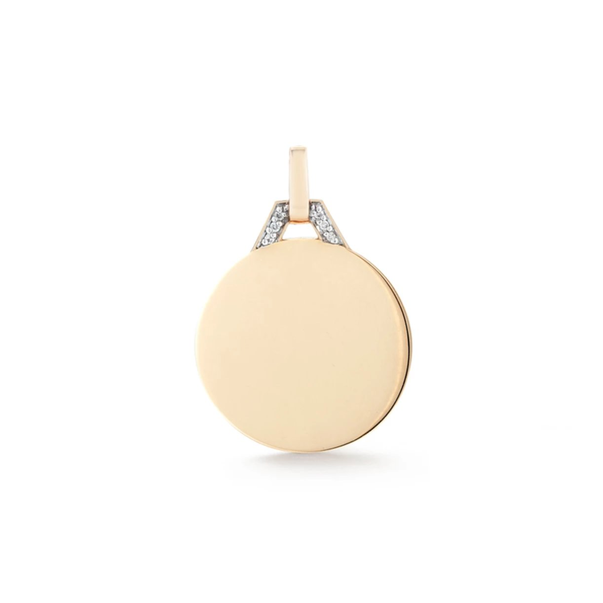 DORA 18K GOLD AND DIAMOND DISC CHARM