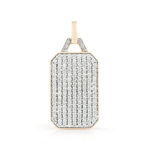 DORA 18K GOLD ALL DIAMOND RECTANGULAR TABLET CHARM