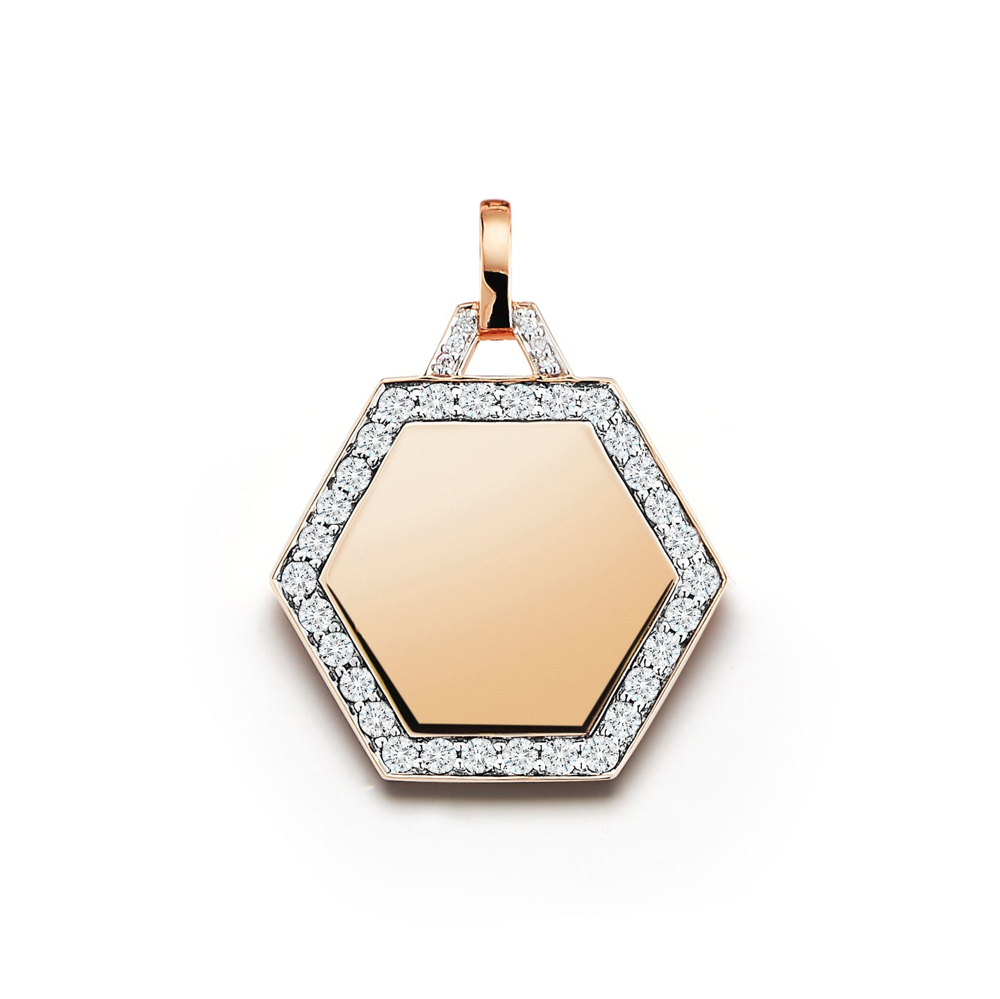 DORA 18K DIAMOND HEXAGON CHARM