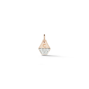 DORA 18K MINI DIAMOND HEXAGON CHARM
