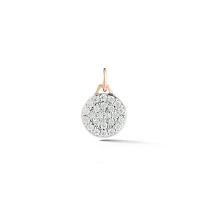 Dora 18K Rose Gold All Diamond Mini Disc