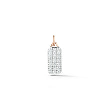 Dora 18K Rose Gold All Diamond Mini Tablet Charm