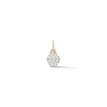 Dora 18K Rose Gold All Diamond Mini Hexagonal Charm