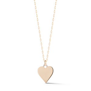 DORA 18K ROSE GOLD AND DIAMOND HEART CHARM