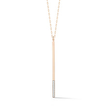 GRANT 18K ROSE GOLD AND 10 DIAMOND 3MM BAR CHARM