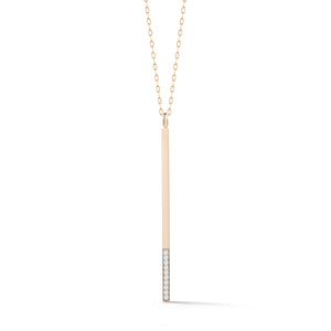 GRANT 18K ROSE GOLD AND 10 DIAMOND BAR CHARM
