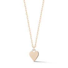 DORA 18K ROSE GOLD AND DIAMOND MINI HEART CHARM