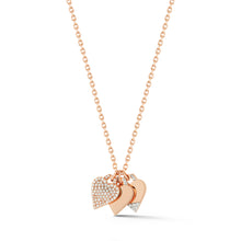 DORA 18K ROSE GOLD ALL DIAMOND PAVE MINI HEART CHARM