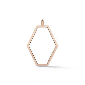 KEYNES 18K MEDIUM OPEN HEXAGON MOTIF CHARM