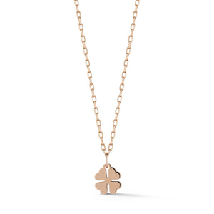 ABC x WF DORA 18K ROSE GOLD MINI CLOVER CHARM