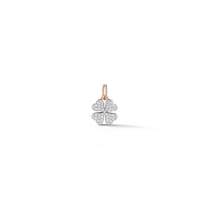DORA 18K ROSE GOLD ALL DIAMOND MINI CLOVER