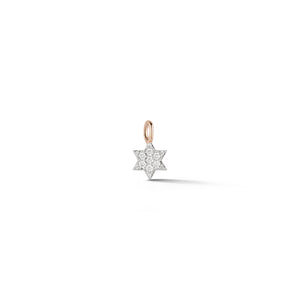 DORA 18K ROSE GOLD ALL DIAMOND MINI JEWISH STAR