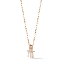 DORA 18K ROSE GOLD MINI CROSS