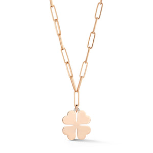 DORA 18K ROSE GOLD LARGE CLOVER CHARM