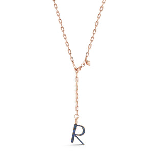 WOOLF 18K ROSE GOLD AND SAPPHIRE INITIAL AND NUMBER CHARMS