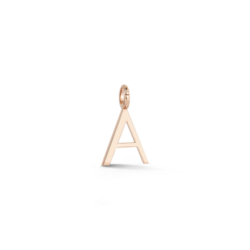 WOOLF 18K ROSE GOLD INITIAL AND NUMBER CHARMS