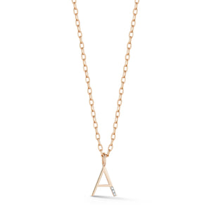 WOOLF 18K ROSE GOLD AND DIAMOND MINI INITIAL AND NUMBER CHARMS