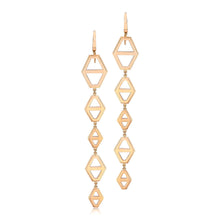 KEYNES FIVE DROP SIGNATURE HEXAGON EARRING